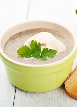 Creamy mushroom almond soup - Creamy mushroom almond soup - © Have a Dream