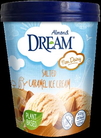 Dream Almond Ice Cream Salted Caramel